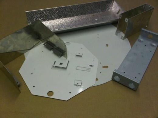 Sheet metal work for the lighting industry