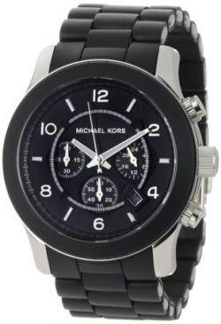 Michael Kors Watches Oversized Black PU Runway