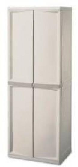 Sterilite 01428501 4-Shelf Utility Cabinet with Putty Handles