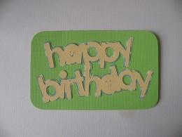 Happy Birthday adhered