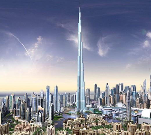 A computer image of Burj Dubai. Dubai UAE