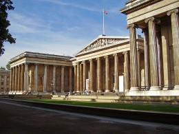 The British Museum today, showing the main entrance