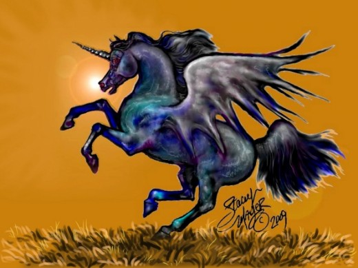 Black Flying Pegasus