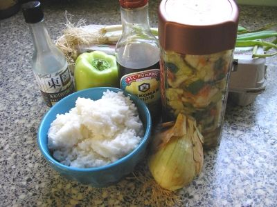 Kimchee Fried Rice Ingredients