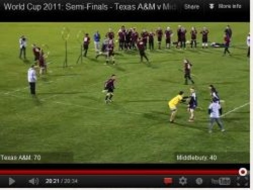 University of Texas A&M vs. Middlebury College Quidditch World Cup Semi-finals