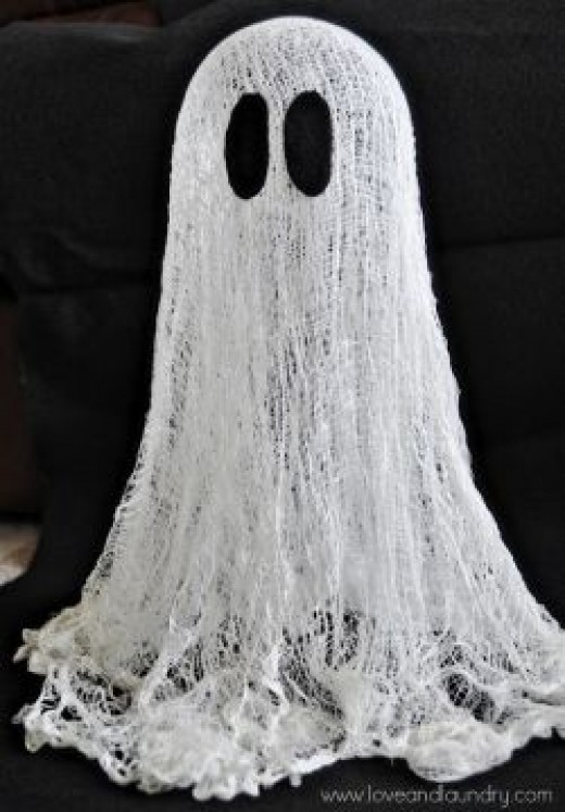 Floating Ghost from Cheesecloth