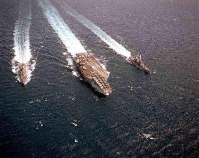 Nuclear powered ships: USS Arkansas, USS Enterprise, and USS Truxtun