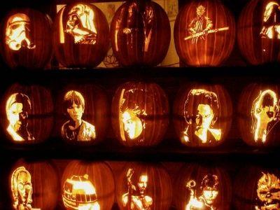 Star Wars Themed Pumpkins