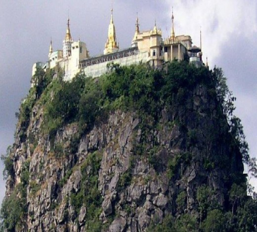 Mount Popa from far afield