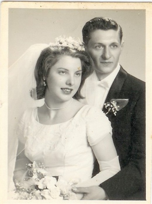 Mom & Dad's wedding portrait