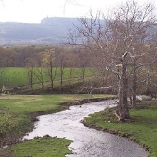 New Paltz Stream with Mohonk in background
