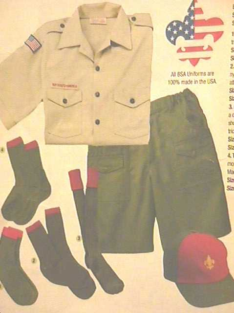 Parts of the uniform