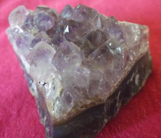 This amethyst cluster was more help with readings than it was with fleas.