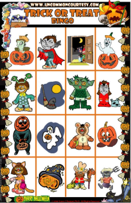 Trick or Treat Halloween Bingo