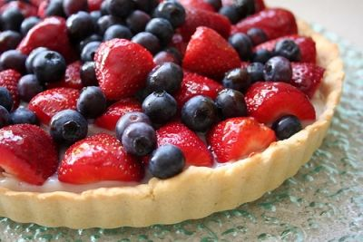 The vegetarian fruit tart makes me eat it only from the pictures