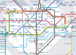 London Tube Map 2009, showing Zone 1 (central London)