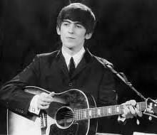 "George Harrison---died 2001---A Rock & Roll Hall of Fame Inductee. One of the great guitarists, singer, songwriter of a generation. Both with ""The Beatles"" and as a solo artist. Famous for his ""Concert For Bageladesh"" which starred some of the gr"