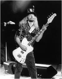 "Leon Wilkeson---died 2001--- A  Rock & Roll Hall of Fame Inductee. Bass player for ""Lynyrd Skynyrd""."