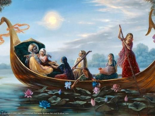 """Boat Pastime""Copyright The Bhaktivedanta Book Trust International, Inc."