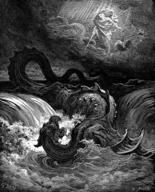 This engraving of a mythical Leviathan represents well what happened aboard the ship with the same name