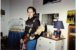 me at 16, playing my bass.