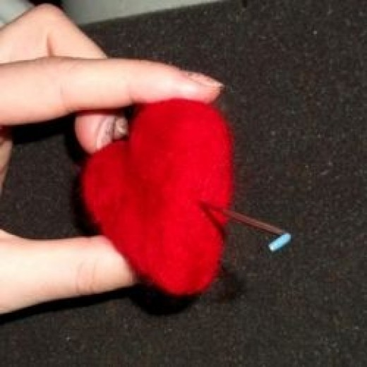 Needle felt wool shaping