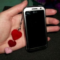 Needle felted Mobile phone decoration