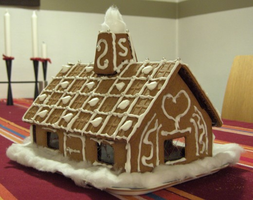 This gingerbread house is an adorable fusion of history, art and food.