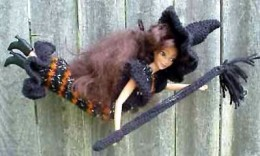 Witch Barbie knit outfit