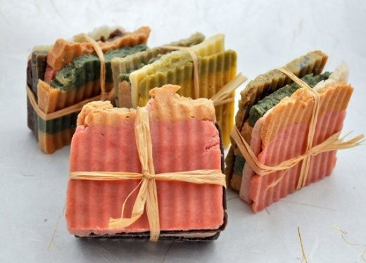 Beautiful, earthy, handmade soap. Find this soap and others like it at http://www.craftjuice.com/index.php?page=3&category=SoapsCosmetics