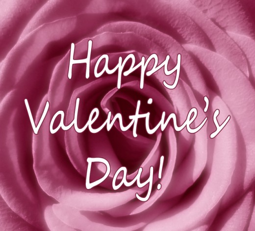 Pink Rose Happy Valentine's Day Clipart