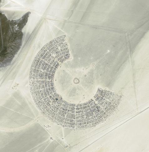 Satellite Image of the Black Rock City Layout