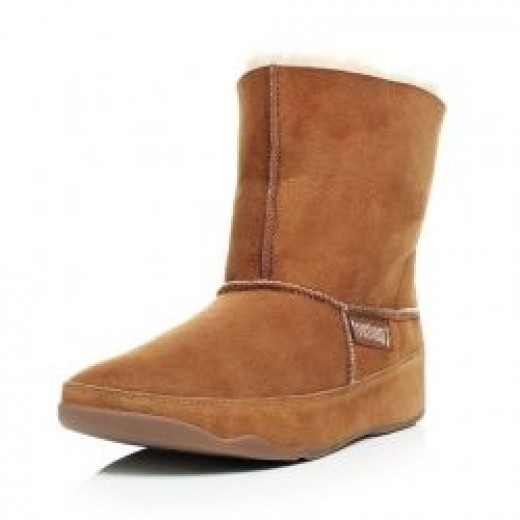 FitFlop Mukluk Mid Sheepskin Ladies Tone Up Boot