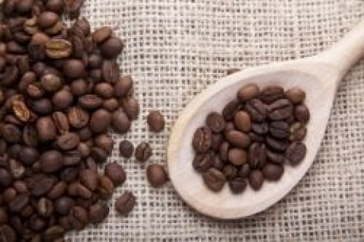 Coffee Beans in Spoon by adamr