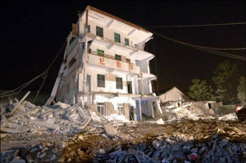 In a brittle collapse, a building can crumble to dust in a few seconds. In a ductile collapse, a damaged building can stand for a short while, allowing time for an evacuation. All of Sichuan's quake-wrecked schools experienced brittle collapse.  They