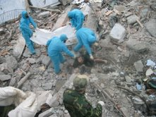 The special clothing worn by the volunteers.  My teaching assistant's boyfriend was one of the group of twenty who survived.
