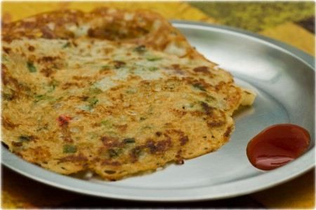 Mixed Flour Onion Cheela