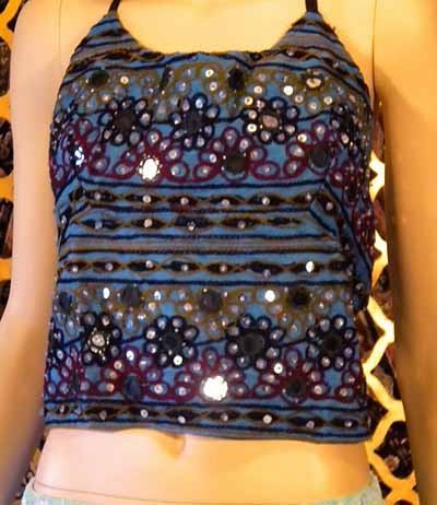 Sexy shisha shirt with base color blue.