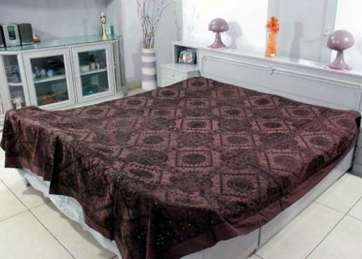 Shisha work bed sheet.