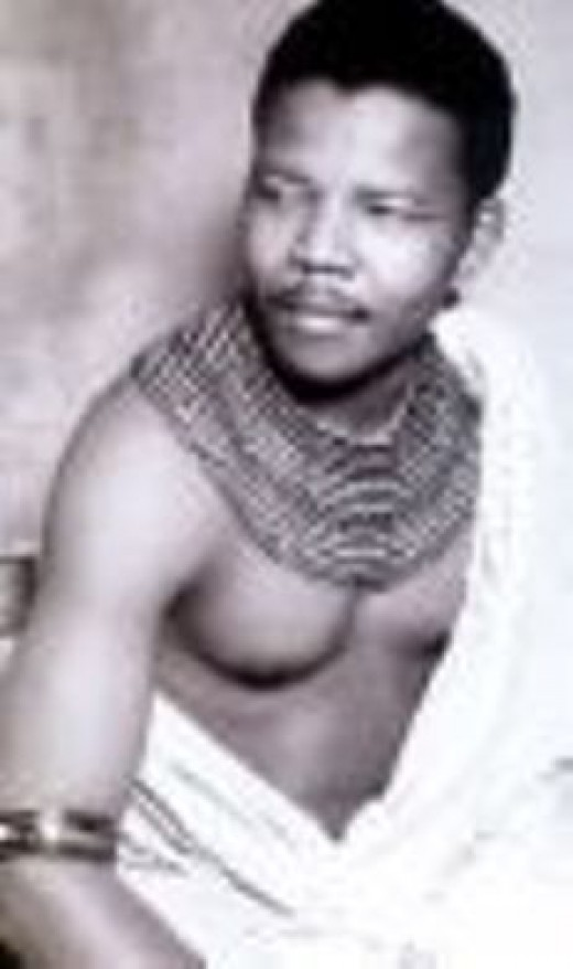 Nelson Mandela in Traditional Clothes