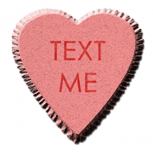 Text Me Candy Heart Valentine's Day Clip Art
