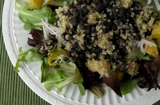 Quinoa, Black Bean, and Butternut Squash Salad