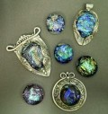 Setting Fused Dichroic Glass into Metal Clay, Pmc, Art Clay Silver