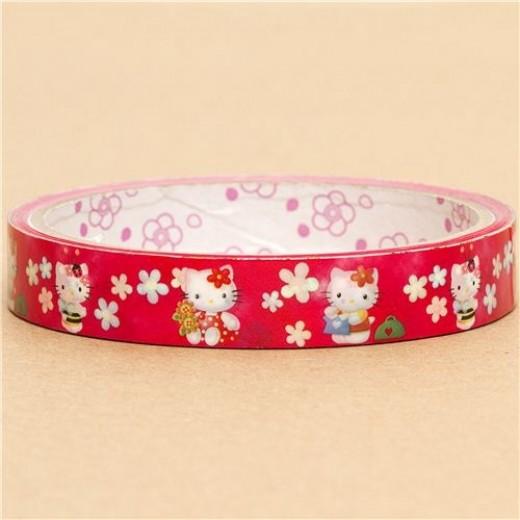cute-Hello-Kitty-Deco-Tape-Scotch-tape-flowers-bee