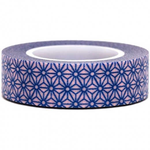 pink-Washi-Masking-Tape-deco-tape-blue-flowers