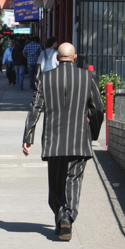 Haight Street Man in Striped Suit deedsphoto