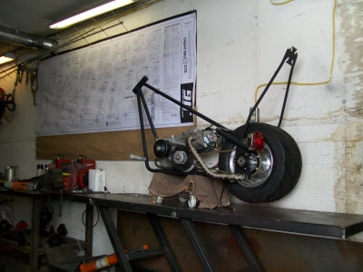 Home Made Motorcycle Lift.