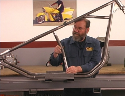 Ron Covell and His Chopper Frame Jig: