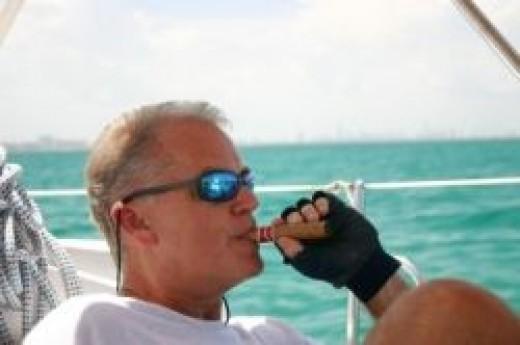 sailing and a cigar