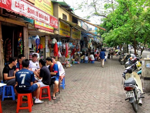 Sunday Morning in the Street of Hanoi